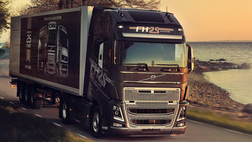 Close-up van de Volvo FH 25 Year Special Edition